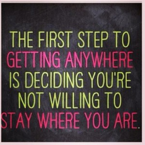 the first step is..